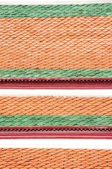 ヴィンテージ寺院屋根、タイの寺院