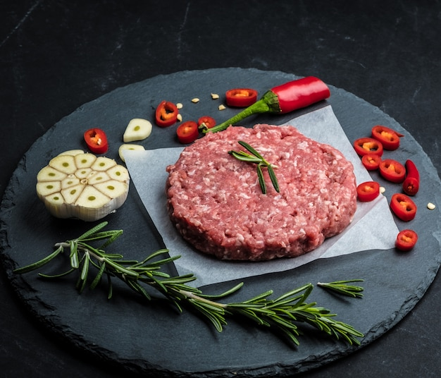 ハンバーガー用牛ひき肉ステーキ