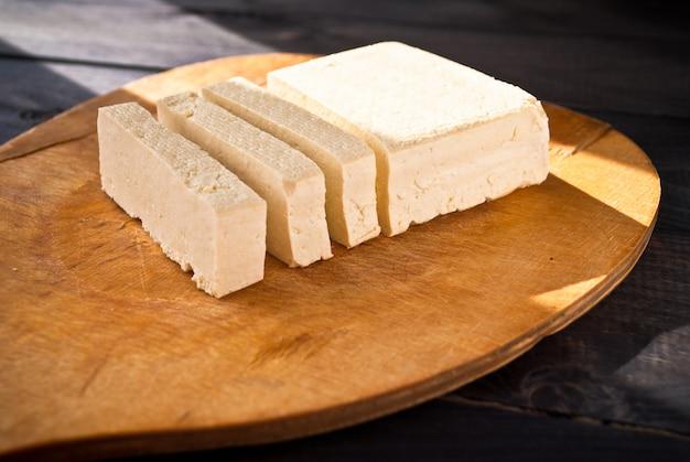 生豆腐のスライス