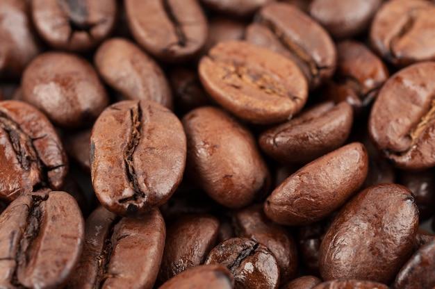 茶色のコーヒー豆