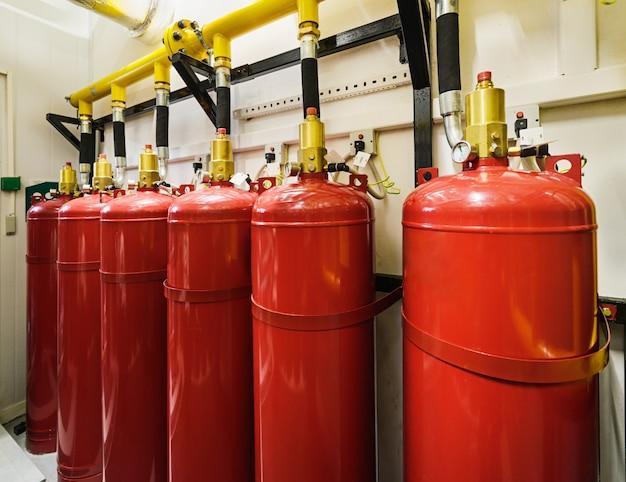 産業用消火システム。