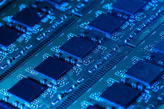 コンピューターの部品のクローズアップ