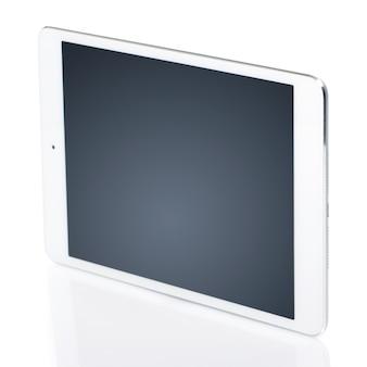 Белый планшет с черным экраном