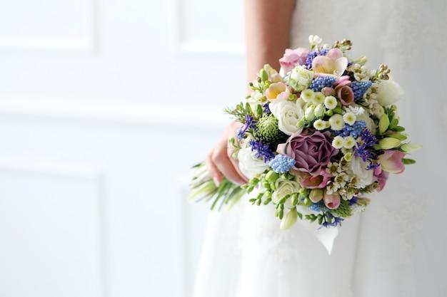 結婚式。美しい花嫁