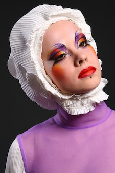ファッション画像で美しい女性