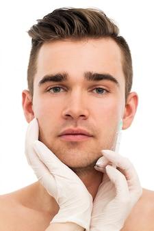 Пластическая хирургия. привлекательный, красивый мужчина