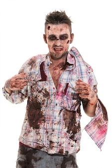 Страшный зомби косплей