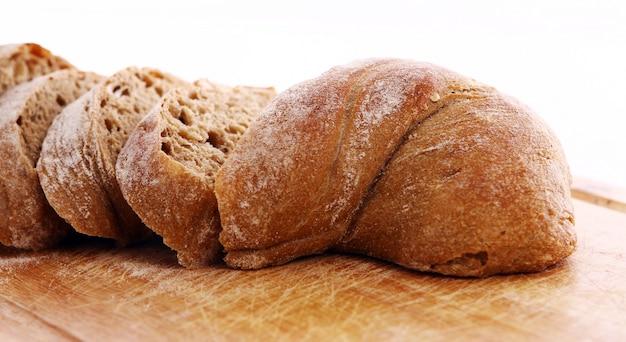 スライスしたパンのクローズアップ