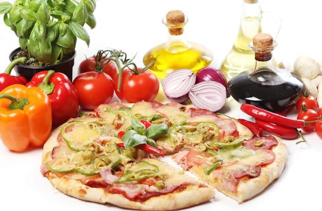 新鮮でおいしいピザ