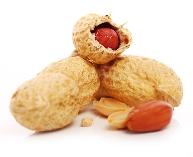 新鮮なピーナッツのクローズアップ