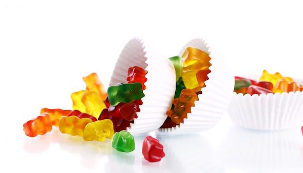 Разноцветные конфетные конфеты