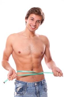上半身裸の男性モデル