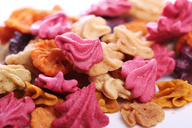 Крупным планом красочные конфеты