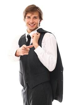若いビジネスマンの肖像画