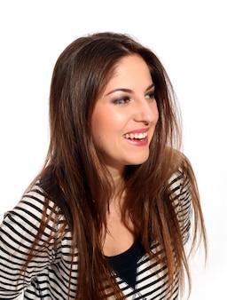 長い髪と美しい若い女性