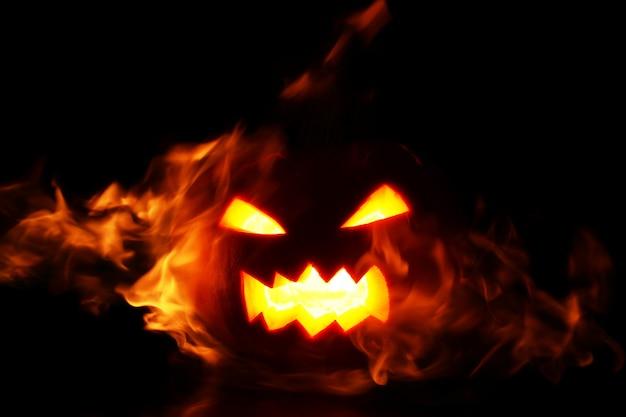 炎の中のカボチャ