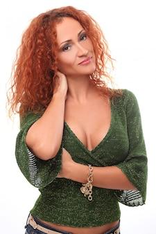 赤毛の女性の肖像画