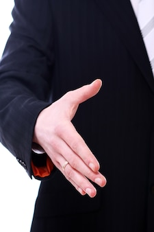 Бизнесмен, давая руку для рукопожатия