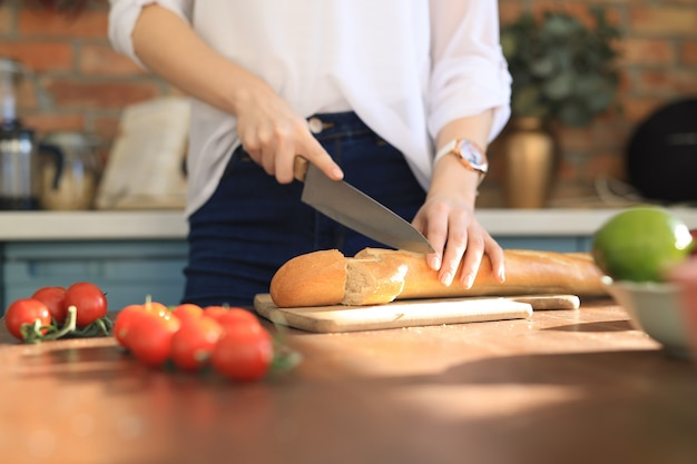自宅で調理