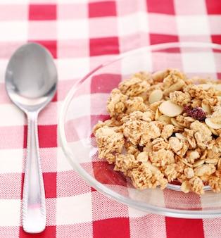 シリアルと健康的な朝食