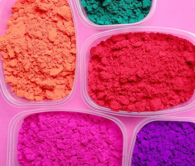 Красочный порошок, концепция фестиваля холи