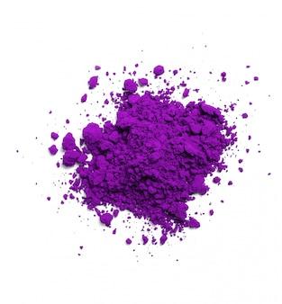 分離された紫色の粉、ホーリー祭のコンセプト