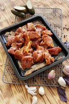 生肉の調理