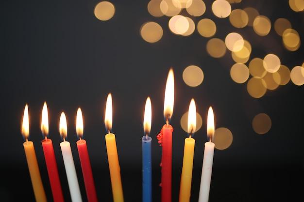 Разноцветные свечи, ханука