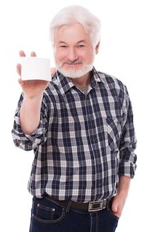 紙でハンサムな老人