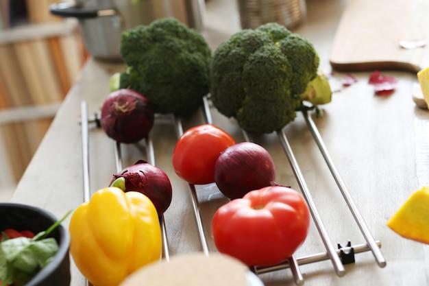 グリルの野菜