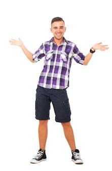 Красивый парень в рубашке