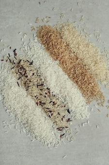 Различный тип риса