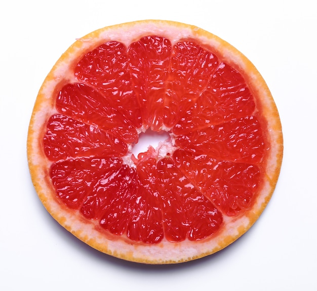 分離された白のグレープフルーツ