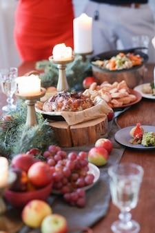 Рождественский ужин с семьей