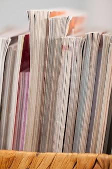 ボックス内の雑誌のクローズアップ画像