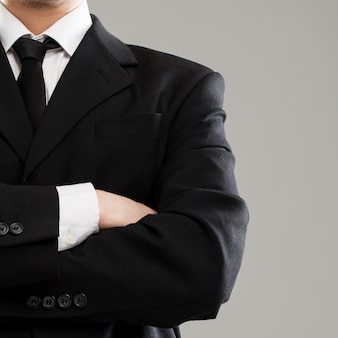 スーツのビジネスマンの胴体