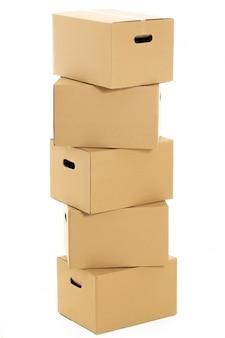 白の空のボックスと閉じたボックス