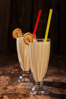 おいしいバナナミルクセーキ