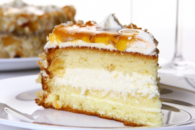 おいしいと甘いデザートケーキ