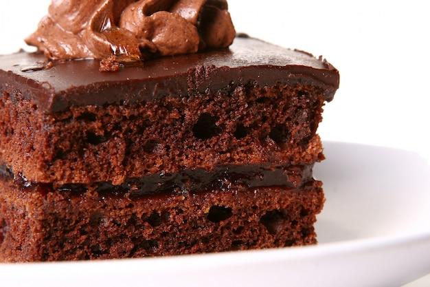 甘いチョコレートケーキ