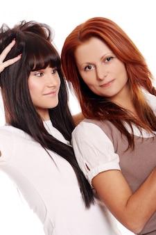 二人の若くて美しい姉妹