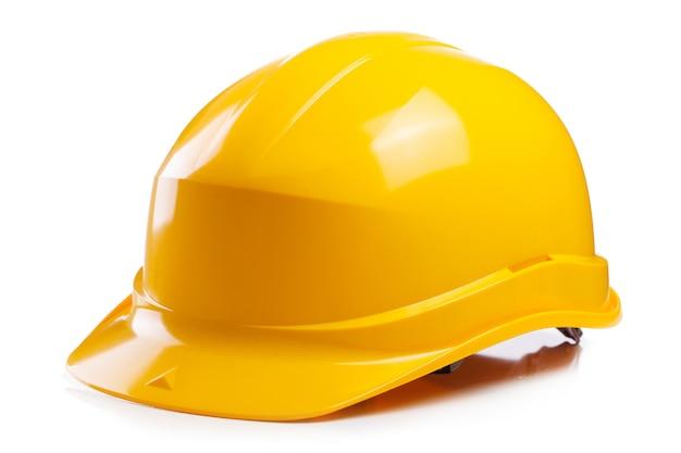 Желтый шлем на столе
