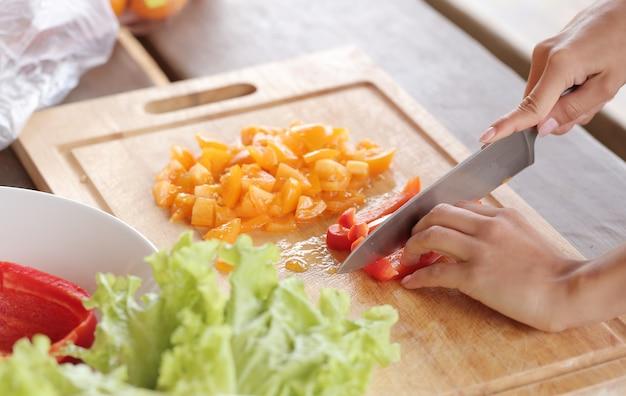 スライスされている野菜