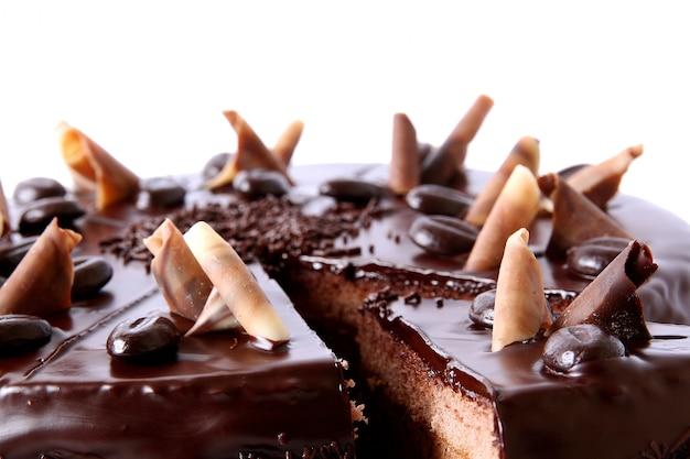 チョコレート振りかけるとチョコレートケーキ