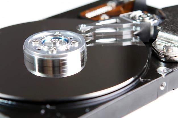 ハードドライブディスクをクローズアップ