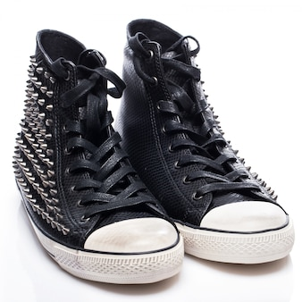 Черные модные кеды