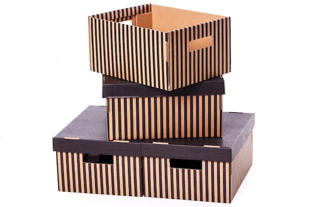 Полосатая коробка ворс ворс