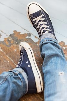 Человек в кроссовках