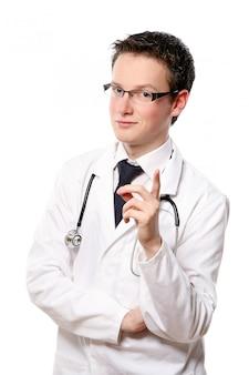 Молодой студент-медик