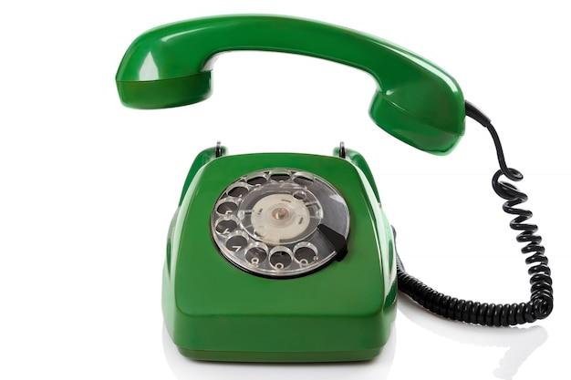 緑のレトロな電話